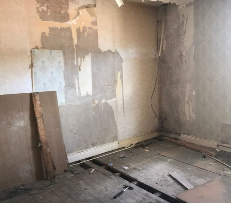 Conveyed on Monday on an Investment Property HMO Salford and Rip out Progress